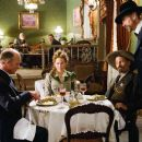 "(L-r) ED HARRIS as Virgil Cole, RENÉE ZELLWEGER as Allison French, VIGGO MORTENSEN as Everett Hitch and JEREMY IRONS as Randall Bragg in New Line Cinema's Western ""Appaloosa."" The film is distributed by Warner Bros. Pictures. Photo by Lo"
