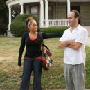 (L to R) RAVEN-SYMONÉ, Director ROGER KUMBLE in COLLEGE ROAD TRIP © Disney Enterprises, Inc. All rights reserved. Photo Credit: John Clifford.