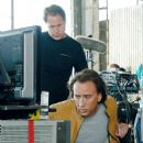 "Producer TODD GARNER (left) and NICOLAS CAGE (right) watch a scene replay on the set of ""Next."" Photo by: Joseph Lederer. © 2007 Paramount Pictures and Revolution Studios. All Rights Reserved."