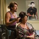 In Columbia Pictures' You Don't Mess with the Zohan, onetime counter-terrorist and now-hairstylist Zohan (Adam Sandler, left) practices his technique with Gail (Lainie Kazan, right). Photo By:  Tracy Bennett. © 2008 Columbia Pictures Industries, I