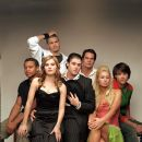 "(L-R front row) ROBERT Ri'CHARD, ELISHA CUTHBERT, JON ABRAHAMS, PARIS HILTON, JARED PADALECKI. (L-R back row) CHAD MICHAEL MURRAY and BRIAN VAN HOLT from Warner Bros. Pictures' horror film ""House of Wax."" Photo: Claudio Carpi"