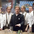 From left to right: WILL FORTE as Otto, NAT FAXON as Rolf, JURGEN PROCHNOW as Baron, ERIC CHRISTIAN OLSEN as Gunter, GUNTER SCHLIERKAMP as Schlemmer, and RALF MOELLER as Hammacher in Warner Bros. Pictures' and Legendary Pictures' comedy &#8220