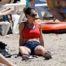 Kirsty Gallacher – Bootcamp Workout On Beach in Ibiza - 454 x 340