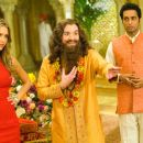 (Left to right) Jessica Alba plays Jane Bullard to Mike Myers' Guru Pitka and Manu Narayan's Rajneesh in the comedy 'The Love Guru.' Photo Credit: George Kraychyk. Copyright (c) 2008 by PARAMOUNT PICTURES. All Rights Reserved. - 454 x 301