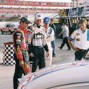 L-R: Jeff Gordon, Jimmie Johnson, Breckin Meyer. Photo credit: Richard Cartwright. - 454 x 302