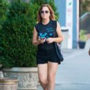 Amy Poehler In Shorts Out and About In Nyc