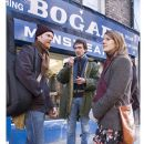 From Left: Glen Hansard, Writer and Director John Carney and Marketa Irglova on the set of ONCE - 454 x 701