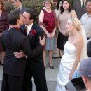 Philipp Karner as Matt, James O'Shea as Ryan and Tori Spelling as Alex in Kiss the Bride. - 454 x 302