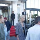 Lena Gercke – Leaves the Radisson Hotel in Cannes - 454 x 806