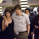 In Columbia Pictures' 21, three members of the M.I.T. blackjack team - Jill Taylor (Kate Bosworth, center left), Ben Campbell (Jim Sturgess, center), and Choi (Aaron Yoo, center right) - strut through a casino flanked by two of Ben's friends: