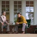 """President Dedmon (DAVID STRATHAIRN) interviews Jack Lengyel (MATTHEW McCONAUGHEY) for Marshall University's vacant head coach position in Warner Bros. Pictures' and Legendary Pictures' inspirational drama, """"We Are Marshall,"""""""