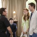 "(L-r) ROBIN WILLIAMS as Reverend Frank, JOSH FLITTER as Choir Boy, MANDY MOORE as Sadie Jones and JOHN KRASINSKI as Ben Murphy in Warner Bros. Pictures' and Village Roadshow Pictures' comedy ""License to Wed,"" distributed by Warner"