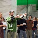 "Director ZACK SNYDER (center) blocks a scene with LENA HEADEY who portrays Gorgo, during filming of Warner Bros. Pictures', Legendary Pictures' and Virtual Studios' action drama ""300,"" distributed by Warner Bros. Pictures. Ph"