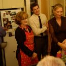 (L to R) John Rothman as Jack Bloomberg, Meryl Streep as Dr. Lisa Metzger, Bryan Greenberg as David, Uma Thurman as Rafi and Doris Belack as Grandma Blanch in Universal Pictures' Prime - 2005 - 454 x 296