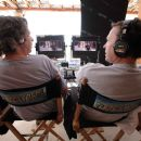 "The directing and writing team of Bobby Farrelly (left) and Peter Farrelly (right) on the set of ""The Heartbreak Kid."" Credit: Zade Rosenthal. TM & Copyright ©2007 by DreamWorks LLC.  All rights reserved. - 454 x 303"