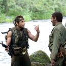 "Tugg Speedman (Ben Stiller, left) and Kirk Lazarus (Robert Downey Jr., right) are shooting an epic war movie and wind up in a real battle in the action comedy ""Tropic Thunder."" Credit: Merie Weismiller Wallace. ©2008 DreamWorks LLC. All Rights"
