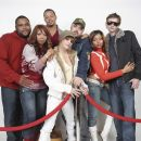 Anthony Anderson, Elise Neal, Terrence Howard, Taryn Manning, Writer/Director Craig Brewer, Taraji P. Henson, and D.J. Qualls; Photo By: Andrew Hetherington/Redux. - 454 x 437