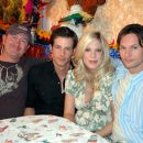 C. Jay Cox, Philipp Karner, Tori Spelling and James O'Shea in Kiss the Bride.