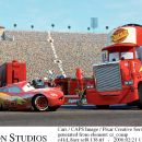 McQueen (voiced by Owen Wilson) and Mack (voice by John Ratzenberger) in Buena Vista Pictures Distribution's Cars - 2006