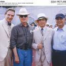 Behind the Scenes - Left to Right: Ralph Fiennes, James Ivory, Hiroyuki Sanada, Ismail Merchant. Photo by: Tomoko Kikuchi/courtesy of Sony Pictures Classics, all right reserved.