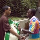"""Evan Ross, left, portrays Anton 'Ant' Swann and Antwan """"BIG BOI"""" Andre Patton portrays Marcus in Warner Bros. Pictures' music-driven coming of age story, ATL. Photo by Guy D'Alema"""