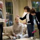 (l to r) Michael Caine and Nicole Kidman on set with Director/writer Nora Ephron and writer Delia Ephron during filming of Columbia Pictures' romantic comedy Bewitched.  Photo by: Melissa Moseley S.M.P.S.P.