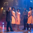 Director Bill Condon, Beyonce Knowles, Anika Noni Rose, Jennifer Hudson and Keith Robinson on the set of DreamWorks Pictures' and Paramount Pictures' Dreamgirls - 2006