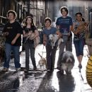 (Left to right) Mark (Troy Gentile), Andi (Emma Roberts), Bruce (Jake T. Austin), Dave (Johnny Simmons) and Heather (Kyla Pratt) come up with an ingenious plan to house the town's unwanted stray dogs in the comedy/adventure 'Hotel for Dogs.' P