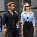 Gary Dourdan and an unidentified blonde woman are spotted walking around Manhattan's Soho neighborhood on September 2, 2016 - 454 x 585