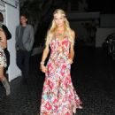 Paris Hilton leaves the Chateau Marmont after enjoying a night out in West Hollywood,