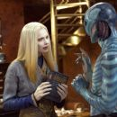 Anna Walton as Princess Nuala and Doug Jones as Abe Sapien in Hellboy 2: The Golden Army.