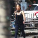 Lucy Liu heads to the set of 'Elementary' in West Village - 454 x 575