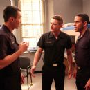 Roger Fan (left), James Franco (center), Wilmer Calderon (right). Photo Credit: Ron Phillips.
