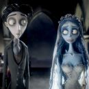Victor Van Dort, voiced by JOHNNY DEPP and the Corpse Bride, voiced by HELENA BONHAM CARTER in Warner Bros. Pictures' stop-motion animated fantasy 'Tim Burton's Corpse Bride.' Photo courtesy of Warner Bros. Pictures.
