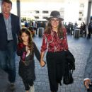 Salma Hayek and daughter Valentina Paloma Pinault grab a flight out of LAX on September 03, 2015