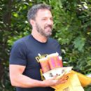 Ben Affleck runs on Dunkin'