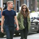 Lily Collins and Johnny Harper – Shopping in Beverly Hills