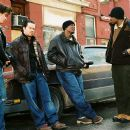 (L-r) GARRETT HEDLUND, MARK WAHLBERG, ANDRE BENJAMIN and TYRESE GIBSON in Paramount Pictures' action and crime 'Four Brothers.'