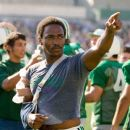"""An injured Nate Ruffin (ANTHONY MACKIE) points to the stands at the conclusion of the game against Xavier in Warner Bros. Pictures' and Legendary Pictures' inspirational drama, """"We Are Marshall,"""" distributed by Warner Bros. Picture"""
