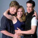 At the heart of the Columbia Pictures presentation Center Stage (2000) is the romantic struggle between world-class ballet star Cooper (Ethan Stiefel, left), aspiring dancer Jody (Amanda Schull) and unassuming ballet student Charlie (Sascha Radetsky).