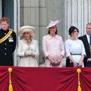 Queen Elizabeth II, Prince Harry, Catherine Duchess of Cambridge and Prince William
