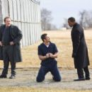 (Left to right.) Colm Meaney, Gerard Butler and Jamie Foxx star in Overture Films´ LAW ABIDING CITIZEN. Photo Credit: John Baer © 2009 LAC Films, LLC. All Rights Reserved.