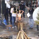 Lais Ribeiro Shooting a commercial for Victoria Secret's upcoming holiday catalog in Aspen - 454 x 464