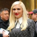 Gwen Stefani stops by 'Good Morning America' in Times Square, New York City, New York on April 1, 2016