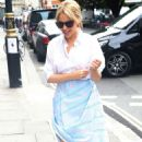 Kylie Minogue – Arrives at Kiss FM in London
