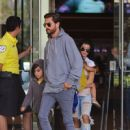Scott Disick seen out and about in with his family in Calabasas, California on June 25, 2016