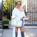 Chrissy Teigen seen leaving a spa in West Hollywood, California on March 31, 2017