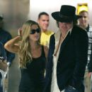 Denise Richards & Richie Sambora arrive at LAX
