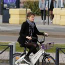 Shailene Woodley and Ben Volavola bike riding in Bordeaux