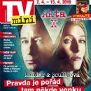 Gillian Anderson, David Duchovny - TV Mini Magazine Cover [Czech Republic] (2 April 2016)